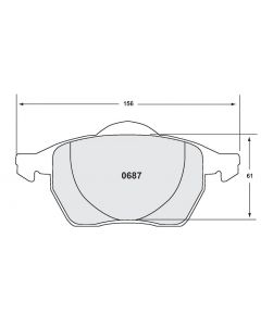 [0687.10]Performance Friction Z-Rated brake pads.FMSI(D687)(old pfc #)