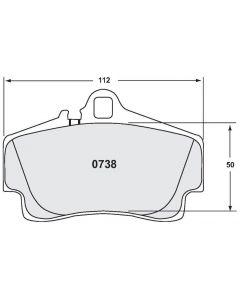 [0738.08.16.44]Performance Friction 0738.08.16.44-Porsche 996 / boxster rear - endurance racing brake pads (PFC0738.08.16.44)
