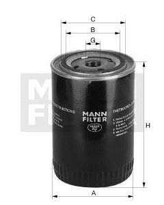 [W-719/10]Mann-Filter European Spin-on Oil Filter(SI - Industrial Heavy truck and Bus/Off-Highway )