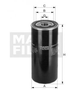 [WD-962]Mann-Filter European Hydraulic Spin-on Filter(Industrial- Several Heavy truck and Bus/Off-Highway N 9349)