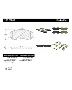 [105.08660]Centric Posi-Quiet Ceramic Brake Pads with Shims and Hardware