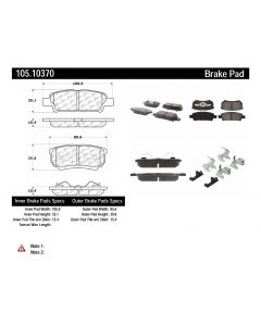[105.10370]Centric Posi-Quiet Ceramic Brake Pads with Shims and Hardware