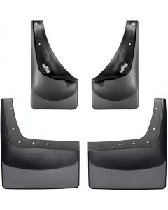 [110001-120029]2001-2007 Ford F-250/F-350/F-450/F-550 Weathertech Black No Drill Mudflaps No Fender Flares - Rear Duallie