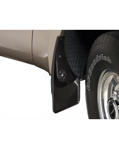 [110001]2000-2005 Ford Excursion Weathertech Black No Drill MudFlaps without Flares