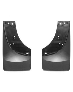[110005]2001-2007 Chevrolet Silverado 1500/2500/3500 Weathertech Black No Drill MudFlaps Only fits models with OE fender flares