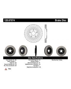 [120.67074]Centric Premium Brake Rotor