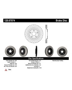 [120.67075]Centric Premium Brake Rotor