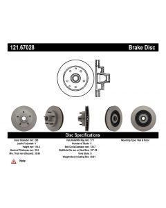 [121.67028]Centric C-TEK Standard Brake Rotor