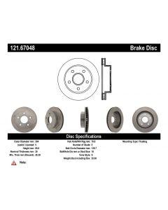[121.67048]Centric C-TEK Standard Brake Rotor