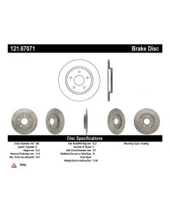 [121.67071]Centric C-TEK Standard Brake Rotor