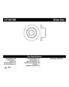 [127.65115R]StopTech Sport Drilled & Slotted Rotor, Right