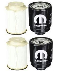 [FS53000--68197867AB]2013-up Ram pick up with 6.7 liter Cummins diesel-Mopar & Fleetguard fuel filter kit-2Sets