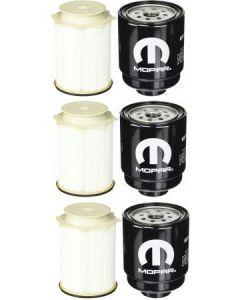 [FS53000-68197867AB]2013-18 Ram pick up with 6.7 liter Cummins diesel-Mopar & Fleetguard fuel filter kit-3Sets