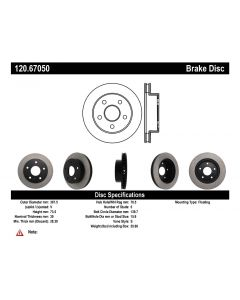 [120.67050]Centric Premium Brake Rotor
