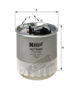 [H278WK]Hengst filter(OE#-642-092-01-01) (H278WK)