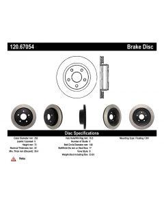 [120.67054]Centric Premium Brake Rotor
