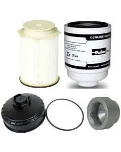 [PFF54529-68157291AA--68065612AA--14600]2013-18 Ram truck with 6.7 liter Cummins diesel Mopar fuel filter Kit(both fuel filters),cap,socket.