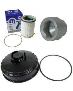 [68157291AA--68065612AA-13290]Mopar/Ram/Dodge 2010-18 Ram 6.7 liter diesel fuel filter,filter cap and socket.