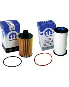 [68492616AA-68235275AB]Chrylser/Mopar/Ram engine oil and fuel filter kit.2013-19 Ram 1500 3.0L v6 Eco diesel.
