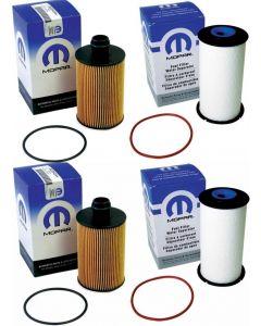 [68492616AA(x2)-68235275AB(x2)]Chrylser/Mopar/Ram engine oil and fuel filter kit.2013-2019 Ram 1500 3.0L v6 Eco diesel.