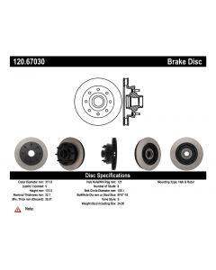 [120.67030]Centric Premium Brake Rotor
