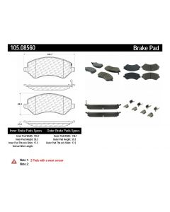 [105.08560]Centric Posi-Quiet Ceramic Brake Pads with Shims and Hardware