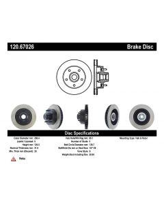 [120.67026]Centric Premium Brake Rotor