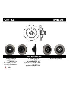 [120.67028]Centric Premium Brake Rotor