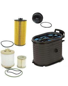 [FA1778/FL2016/FD4616/EC781]Motorcraft fa1778-FL2016-FD4616-EC781 Ford 6.0 liter turbo diesel air,oil,fuel filter,and cap package