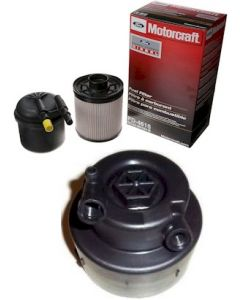 [fd-4615/BC3Z-9G270-D]2011-2016 Ford 6.7 liter Powerstroke turbo diesel Motorcraft fuel/water filter kit(2 filters) and cap.