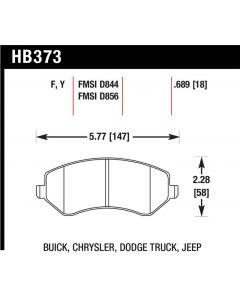[HB373F.689]Hawk performance HPS brake pads