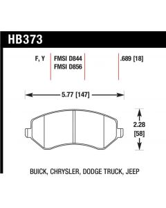 [HB373Y.689]Hawk performance LTS brake pads