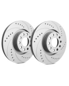 [F53-056]Sp Performance Cross drilled and slotted rotors with gray zinc plating(sold as pair)