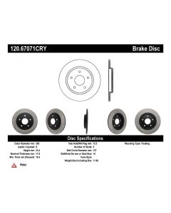 [120.67071]Centric Premium Brake Rotor
