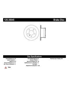 [125.35045]Centric Premium High Carbon Alloy Brake Rotor