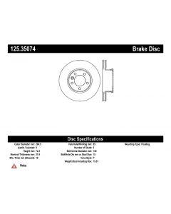 [125.35074]Centric Premium High Carbon Alloy Brake Rotor