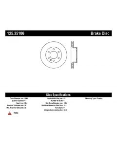 [125.35106]Centric Premium High Carbon Alloy Brake Rotor