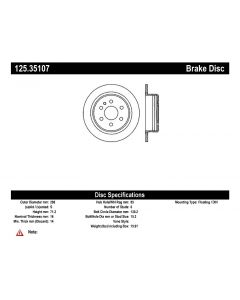 [125.35107]Centric Premium High Carbon Alloy Brake Rotor