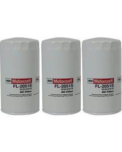 [fl-2051s(X3)]Motorcraft fl2051s-Ford 6.7 liter turbo diesel oil filter(bc3z6731b)-3PACK