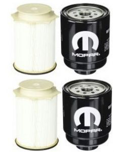 [68157291AA--68197867AB]2013-19 Ram 6.7l Cummins oem Mopar fuel filter Kit(both fuel fitlers)-2 sets