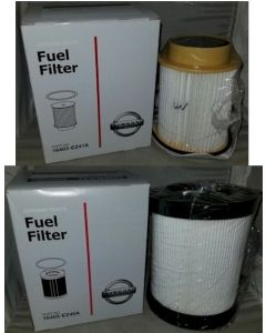 [16403EZ41A-16403EZ40A]2016-2017 Titan XD 5.0 V8 Cummins Diesel Genuine Nissan OEM upper and lower fuel FIlter kit(both fuel filters)