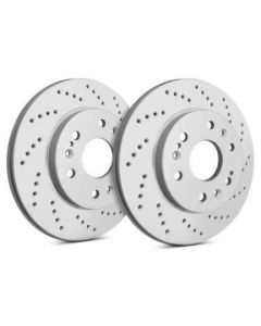 [C53-005]Sp Performance Cross drilled rotors with gray zinc plating(sold as pair)