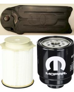 [68197867AB-68157291AA-CV52001]Mopar fuel filter Kit(Contains both fuel filters) and Fleetguard CCV filter-2013-18 Dodge HD truck with 6.7 liter diesel