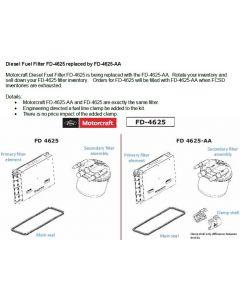 [FD-4625AA(HC3Z9N184J)]2020-UP Ford F250/350 6.7L Powerstroke diesel fuel filter kit.