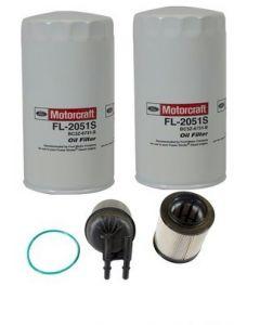 [fl-2051S(x2)/FD4615]Motorcraft Ford 6.7 liter turbo diesel oil and Fuel filter kit.