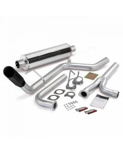 [48125-B]Banks Power Monster Exhaust System, S/S-Black Tip - 2004-14 Nissan 4.0L Frontier, All Cab/Beds