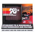 [87-5038]K&N Display; Small Air Filter DISPLAY; SMALL AIR FILTER 11-1/2W X 10H X 3-1/8D