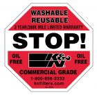 """[89-16064]K&N Decal/Sticker Stop DECAL; HD STOP 3"""""""